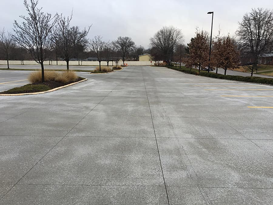 Concrete slab placed for a new project in Pittsburgh, PA